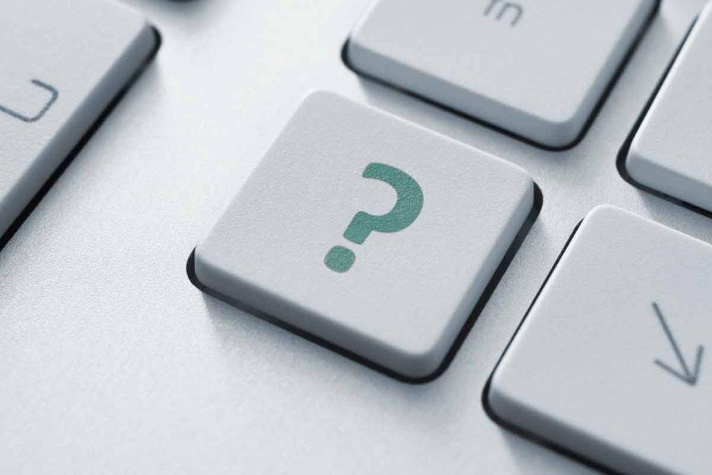 keyboard key -- ?